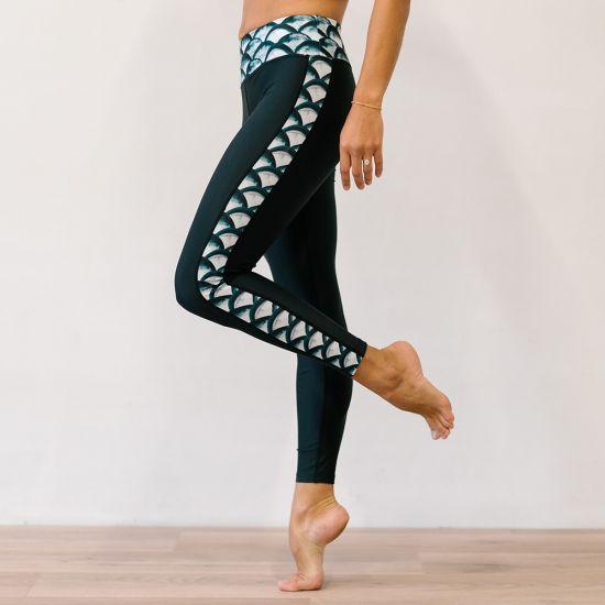 Legging Clémence Noir/Sirène